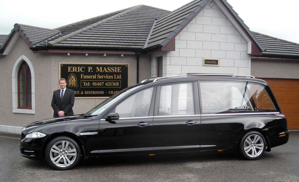 New Wilcox jaguar hearse