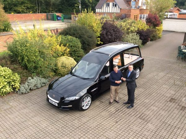 New Jaguar Glass Roofed Hearse Delivered