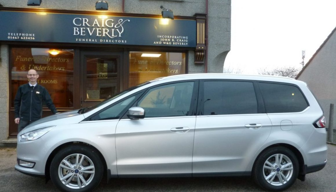 'Wilcox' Ford Galaxy Hearsette® for Craig and Beverly Funeral Directors