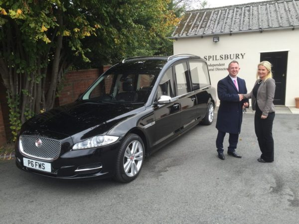 New Jaguar hearse for FW Spilsbury Funeral Directors